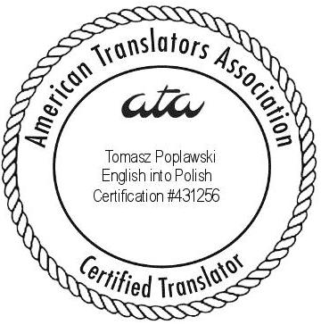 English–Polish Translator and Interpreter in Chicago, ATA Certified